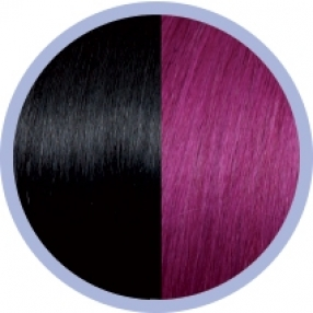 Seiseta Invisible Clip-on 1B/62 / Schwarz/Rot Violet